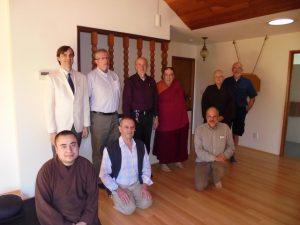 Rev. Sukha, Briah Ruhe, Upakarin, Eshin Godfrey, Jerry Chapman, Lama Tsewang, George Draffan, Bethan Lloyd, and Dayasiddhi