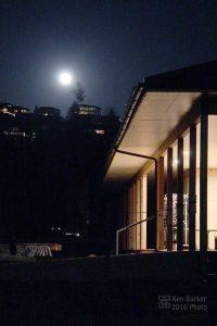The moon outside the Sodo, Dharma Rain Zen Center