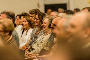 People were rapt, and amused, during the weekend teachings in Seattle