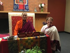 Jacqueline Mandell and Dra Kilung Rinpoche at conclusion of retreat