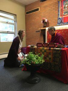 Margaret Jansen blessed by Kilung Rinpoche