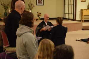 Reverend Rinzan Petrovnick leads the only Rinzai Zen group in Portland, at the Portland Dhamma Center