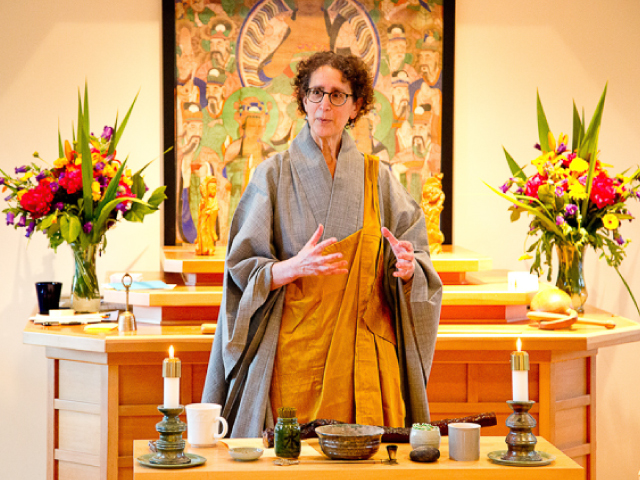 "Zen Master Jeong Ji (Anita Feng), guiding teacher at Blue Heron Zen Community, author of ""Sid"