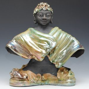 Buddha in shrouded robes, made by Feng