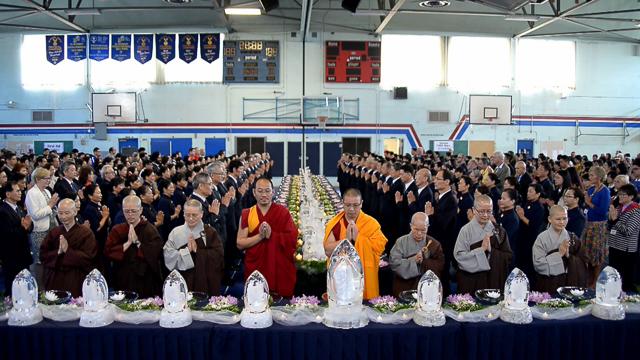 Monastics from around British Columbia gathered on May 8, to celebrate Buddha's birthday and the 50th anniversary of Tzu Chi Foundation