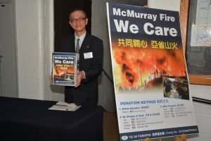 Appealing for donations to help people displaced by the Fort McMurray wild fire