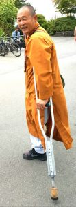Another man dressed as a monk.