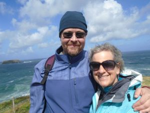 Tim Geil and his wife Anne Geil, during a 2016 trip to Ireland and Wales.