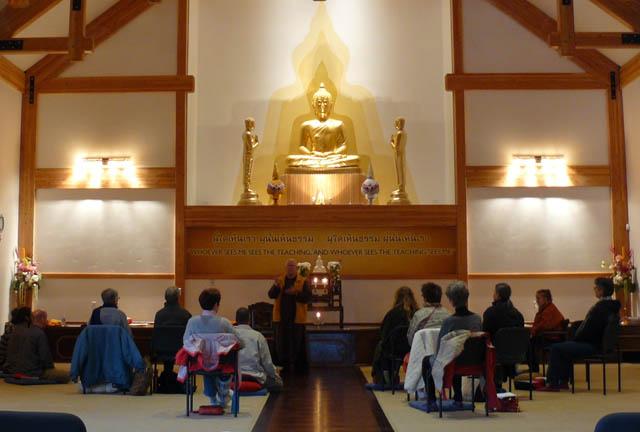 Kobai Scott Whitney addressed the 2014 Day of Mindful Recovery, also at Wat Atammayatarama.