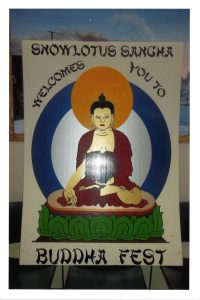 A sangha poster made by inmates at the Twin Rivers Unit.