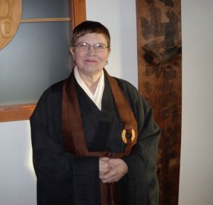 Rev. Genko Blackman, a leader in supporting the dharma needs of current and former prison inmates.