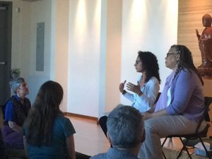 Vera Garibaldi and Tuere Sala offering their experience of practicing the dharma in a predominantly white Buddhist community.