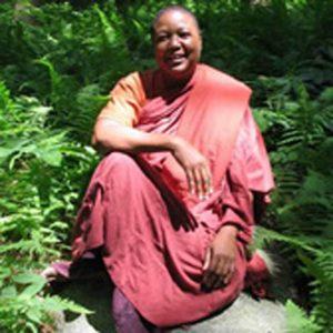 Venerable Dr. Pannavati, an ordained Theravadan nun.