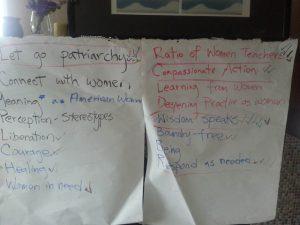 The gathered teachers brainstormed many ideas.