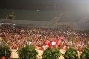 An estimated 15,000 people attended the Global Bhikkhuni Award ceremony, in a Kaohsiung stadium.
