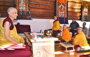 Venerable Chodron teaches in person and online from Sravasti Abbey, the Buddhist monastery she founded in 2003.