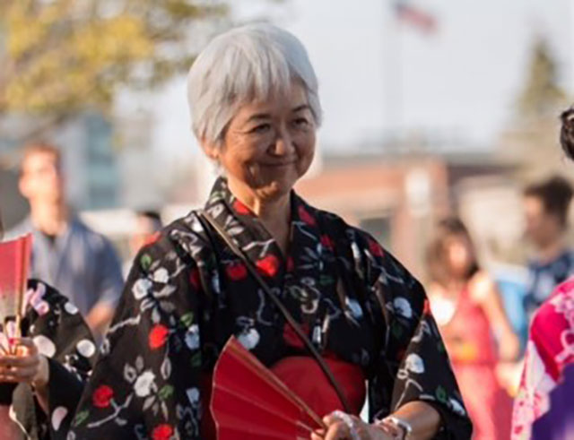 Irene Shaba Goto, at the Bon Odori dance in Seattle.
