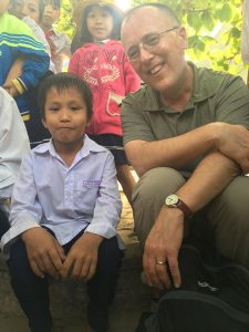 Jon Prescott at a rural school in Vietnam supported by The Loving Work Foundation.
