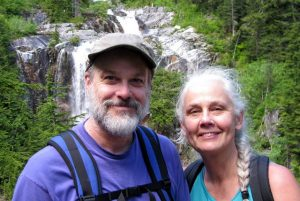 George Draffan hiking with his partner, Julene Schlack.