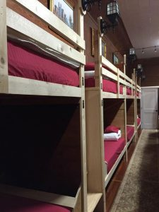 Bunks are ready for retreatants.
