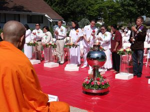 In 2015 the monastic community celebrated Vesakha at Seattle Meditation Center, a Thai temple north of downtown Seattle.