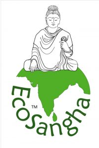 The EcoSangha logo, which Castro hopes will be widely used in the Dharma community.
