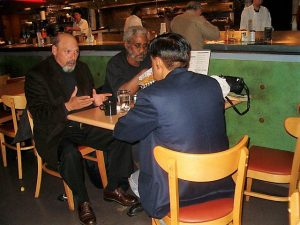 Johnson, playwright August Wilson, and Indian scholar Nibir Ghosh often met at the Broadway Bar and Grill on Seattle's Capitol Hill for marathon discussions.