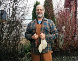 George Draffan in landscaping mode.