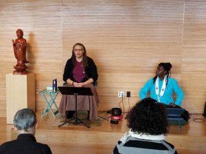 Sala teaching during the retreat.