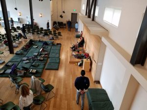 A view from above, at Seattle Insight Meditation Society.