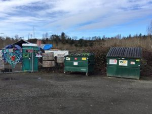 Thanks to the City of Seattle, Camp Second Chance now has dumpsters and waste management service.