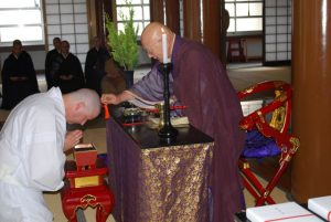 Wirth's ordination in Japan, in 2010.