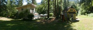 The Pacific Hermitage, which includes a house and guest house, is located on 10 acres of forest near White Salmon, Wash.
