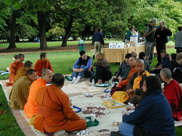 Northwest Dharma Association brings people from many traditions together in harmony, as it has for many years. This photo is of the 2005 Change Your Mind Day celebration, in Seattle's Volunteer Park.