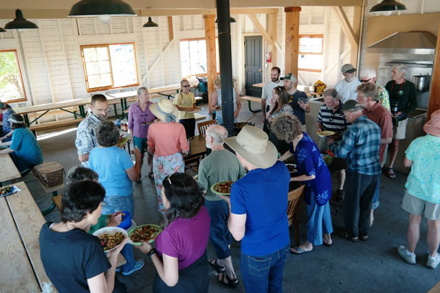 Social gatherings, such as this 2015 picnic, are part of the glue that keeps the Port Townsend Sangha connected.