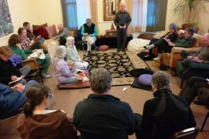 In the early years people gathered in living rooms.