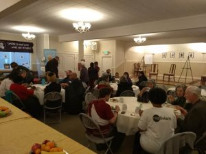 "People of all Buddhist traditions met over food at the ""Celebrating the Sangha"" event."