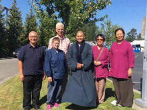 Prison dharma volunteers at MCC, fall 2016. From left to right: Emmanuel Go, Genko Kathy Blackman, Bruce Munson, Venerable Tian Zhong, Shirley Tam and Rame Chiu.