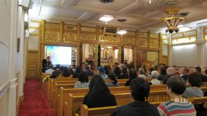 The event drew a large crowd to the main hall of Seattle Betsuin Buddhist Temple.