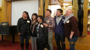 The Aizumi family poses with Seattle Betsuin's Zumoto/Ko family.