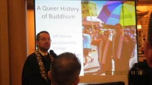 """Rev. Dr. Jeff Wilson presenting """"A Queer History of Buddhism."""""""