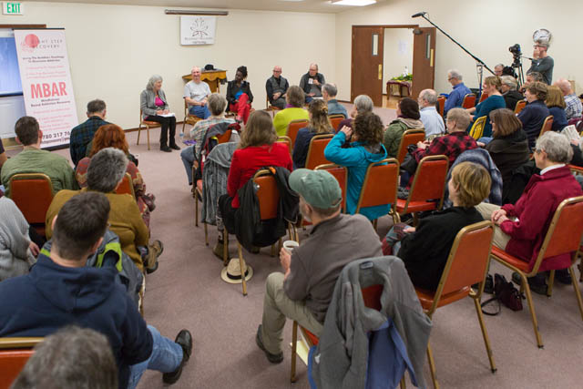 People came from around the world to hear from leaders in the Buddhist recovery movement.