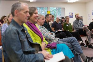 Attendees were rapt, listening to pioneers in Buddhist recovery work.