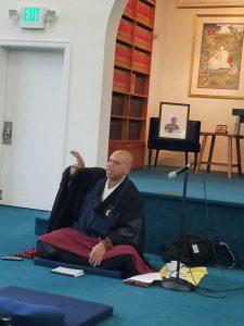 Morris teaching at Nalanda in Seattle