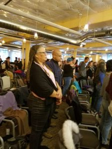 Sala at the Reverend Angel Kyodo Williams teachings in Seattle