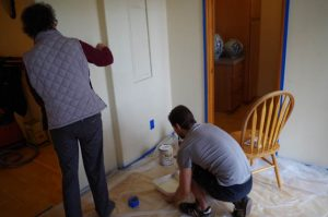 Zen Master Jeong Ji and Samuelson painting, as part of the renovations