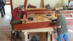 Steve and Jeff doing woodworking