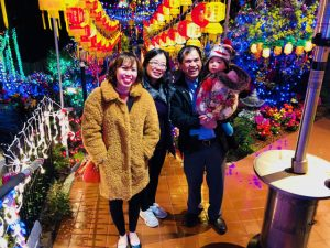 Friends Linh Truong, Tran Tran, Khanh Tran and Katherine Tran gathered to celebrate the Lunar New Year