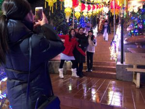 Lunar New Year was the occasion for many happy pictures at Dia Tang Temple.