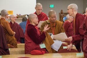 Nuns from three Buddhist traditions delight in the chance to share together
